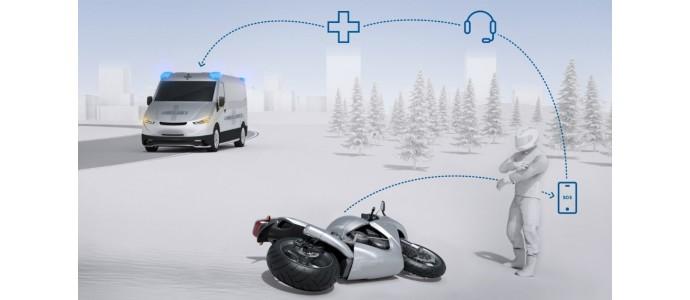 Bosch crea un ángel de la guarda que llama automáticamente a emergencias si el conductor sufre un accidente de moto